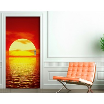 "Ajtóposzter no.15 RED SUNSET"" 100x210cm Wallpaper"""